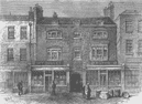 CLERKENWELL. Burnet House (1866). London c1880 old antique print picture
